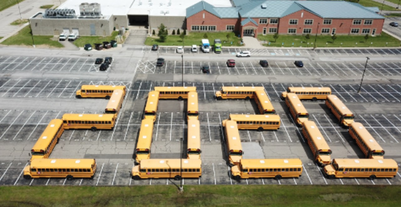 Bus Drivers Give a Unique Congratulations to the Class of 2020