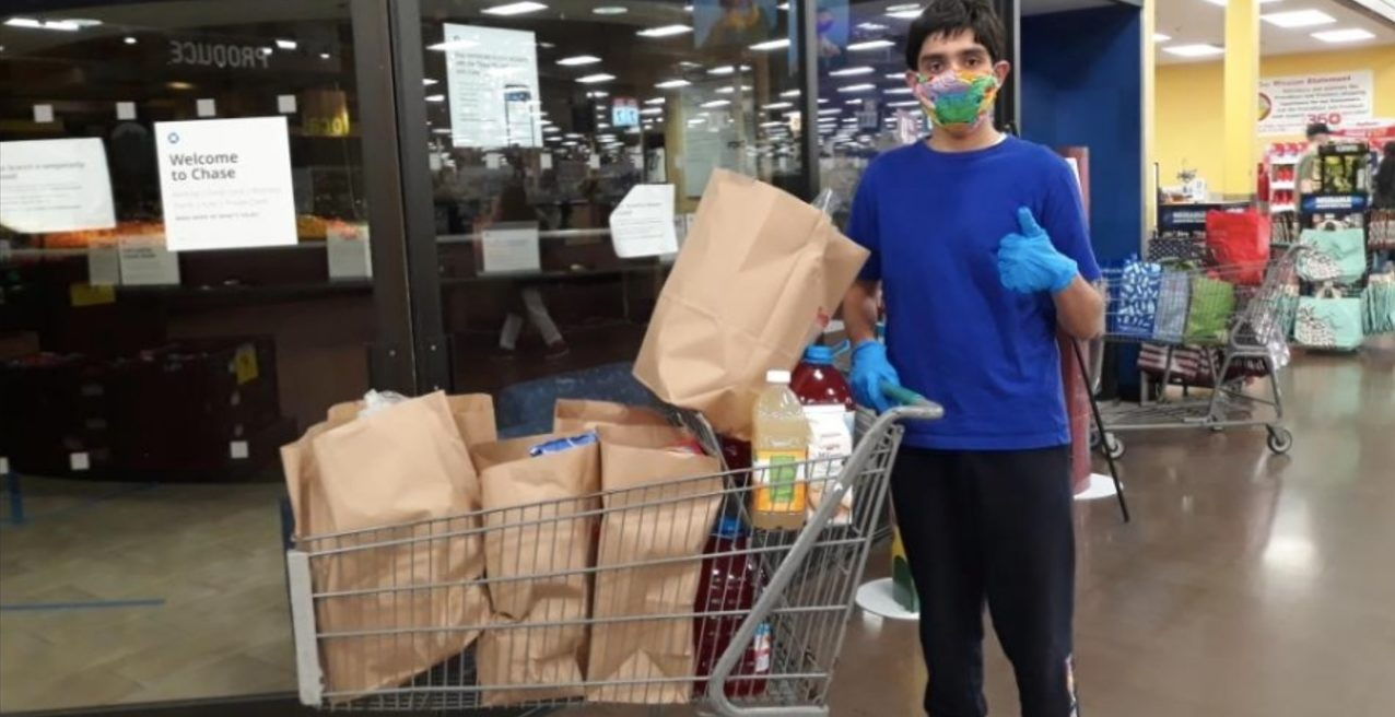 Shopping with PPE