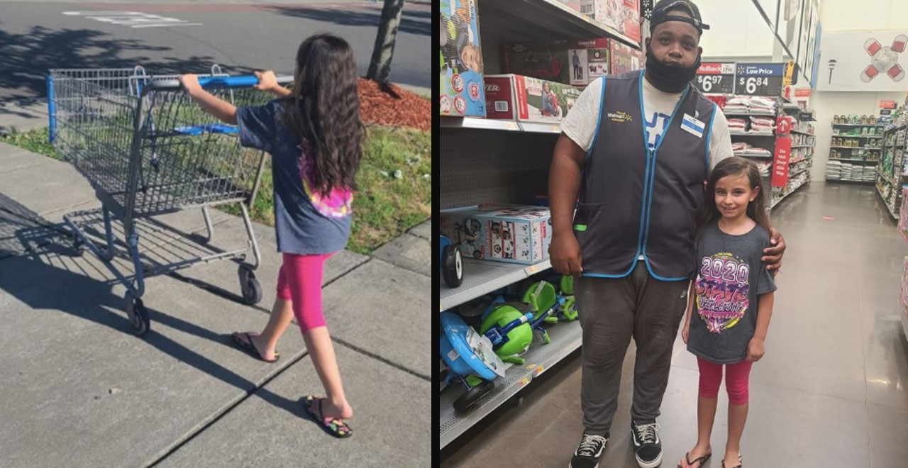 8-Year-Old's Kindness Restores Walmart Employee's Faith in Humanity