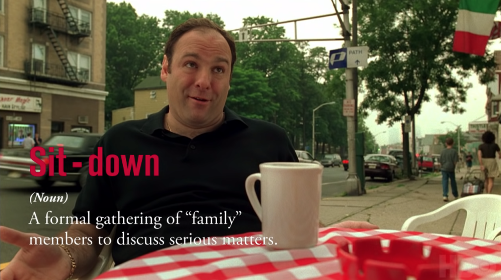 Sopranos Diction: Sit-Down