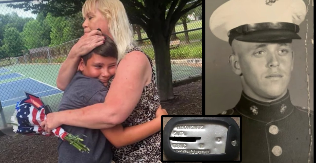 12-Year-Old Finds Marine's Dog Tag and Returns it to His Family