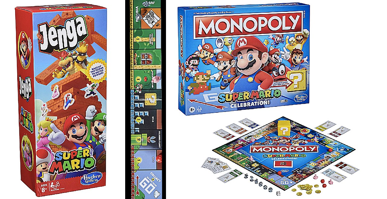 Super Mario Themed Jenga and Monopoly Celebrate Game's 35th Anniversary
