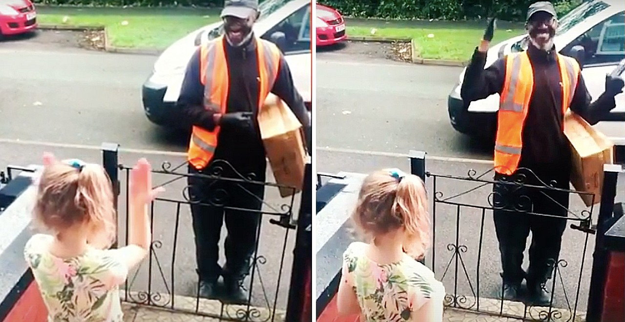 8-Year-Old Delights Delivery Driver by Greeting Him in Sign Language