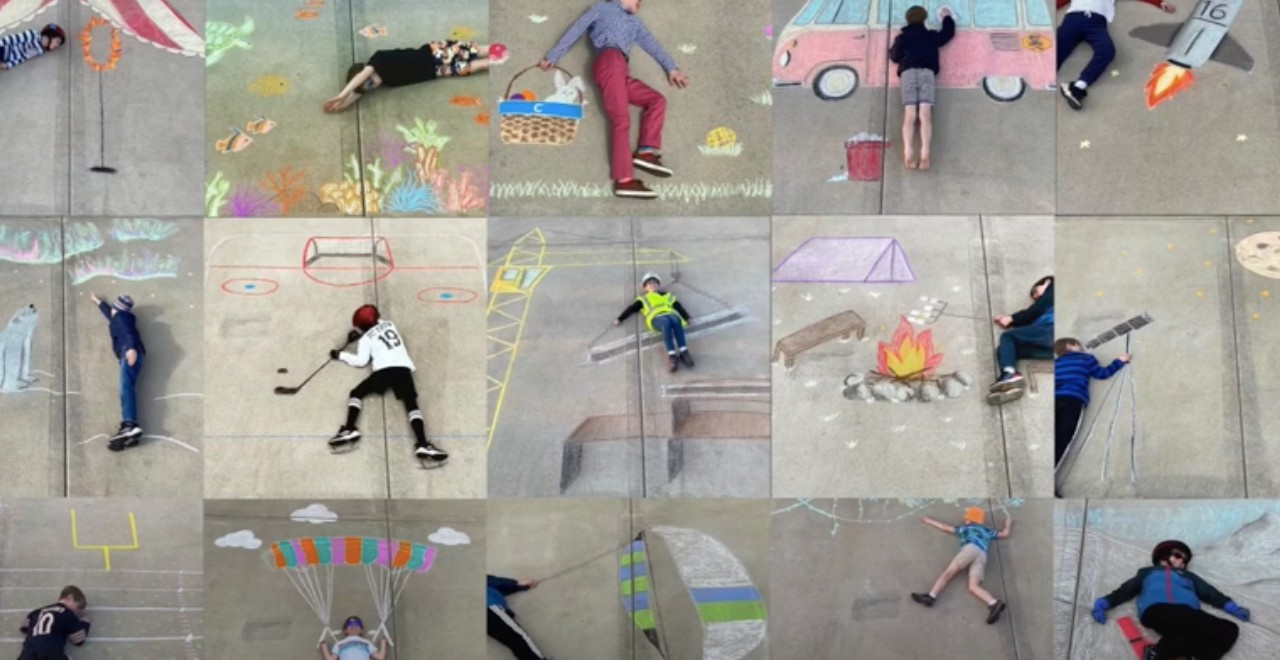 Teen Helps Little Brother Travel the World Through Chalk Art