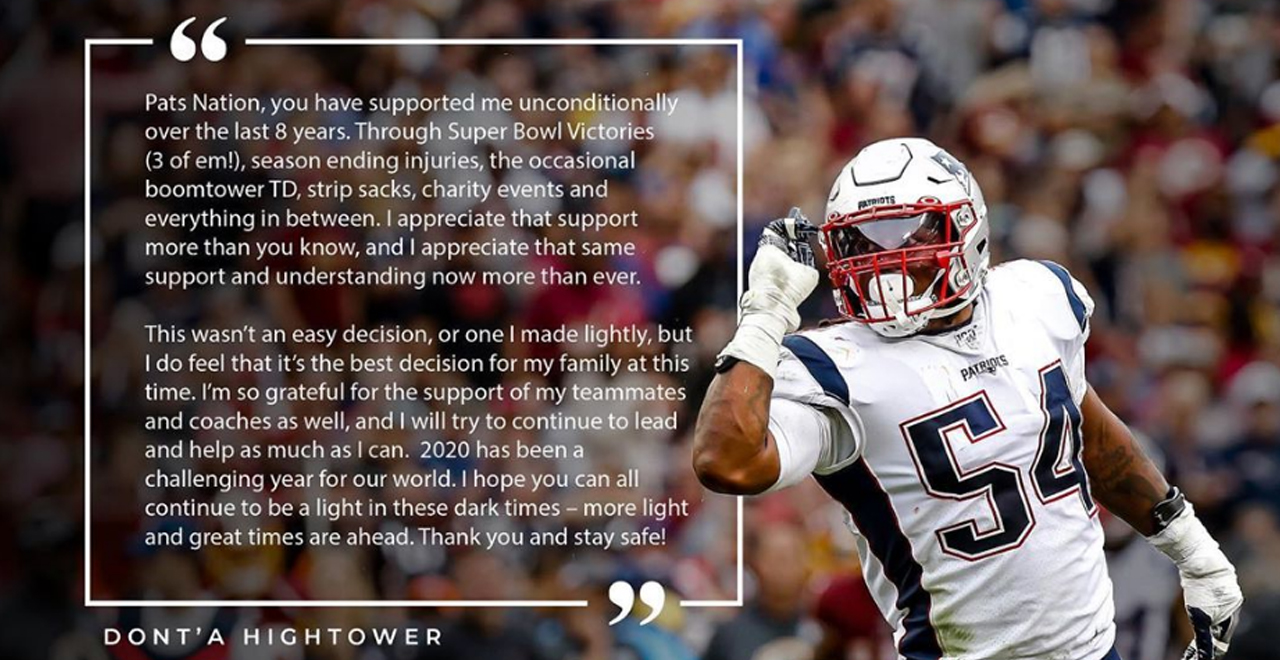 Dont'a Hightower Opts Out