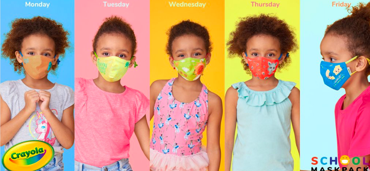 Crayola school mask pack