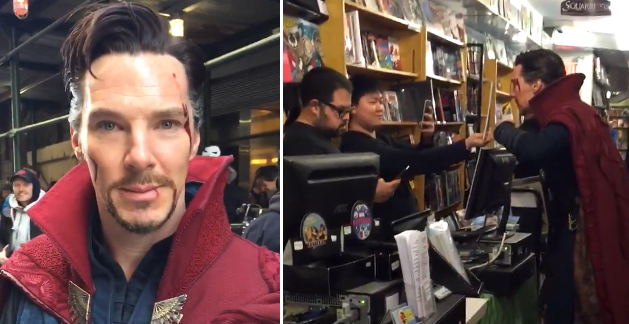 Benedict Cumberbatch Visits Comic Book Store
