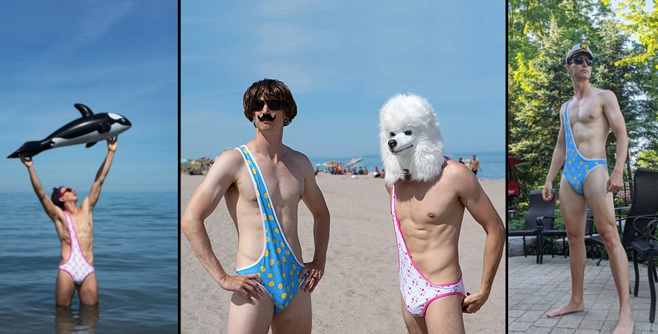 Canadian Friends Invent Brokini Bathing Suits