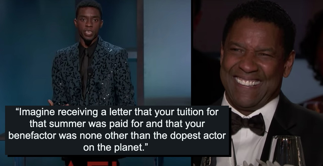 Denzel Washington Paid for Chadwick Boseman's Acting Course