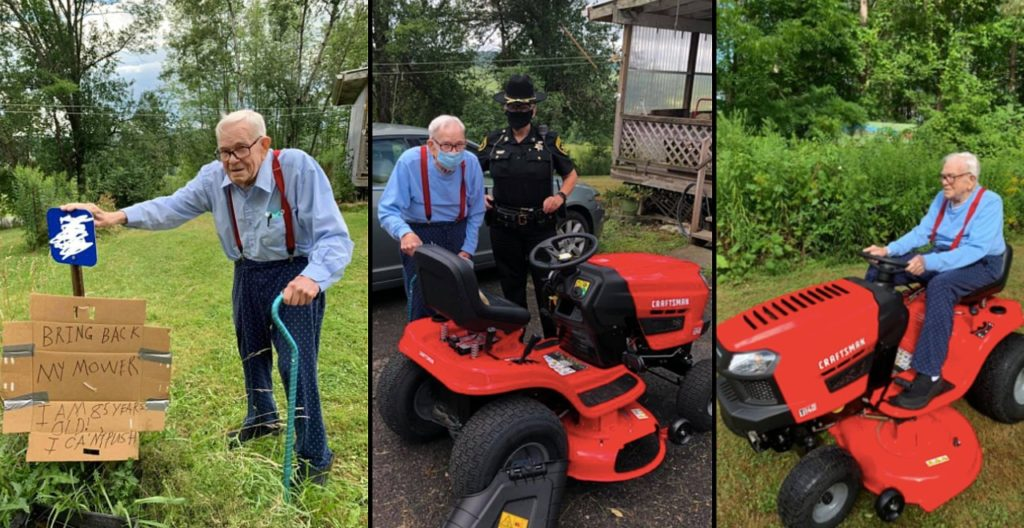 85-Year-Old Lawn Mower Replaced By Anonymous Donor
