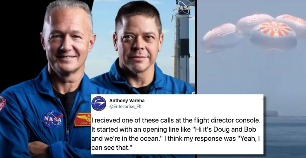 NASA Dads Kill Time After SpaceX Splashdown by Making Prank Calls