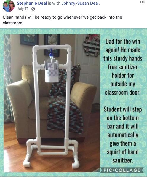 Teacher Classroom Sanitizer Hands-Free