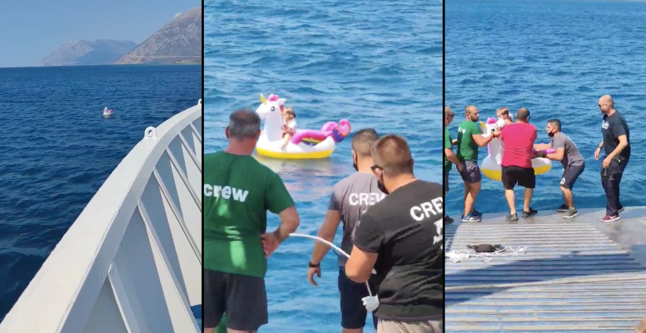 Girl Adrift in Inflatable Unicorn Rescued by Ferry Staff