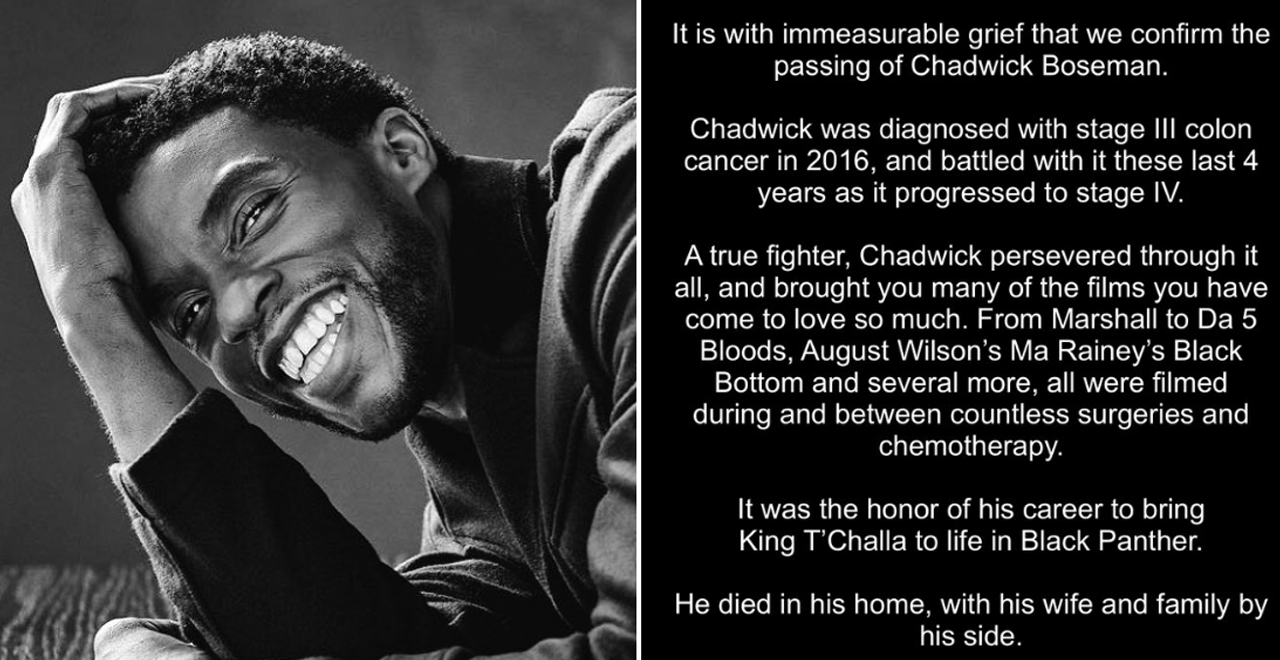 Tributes for Chadwick Boseman
