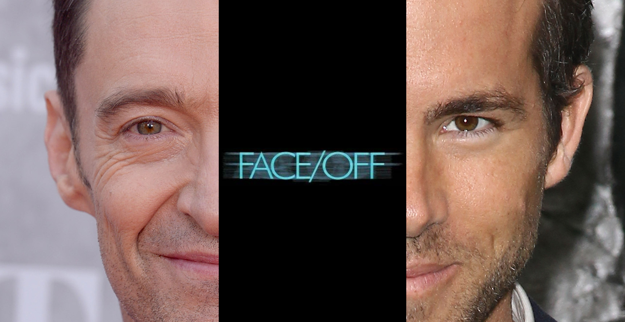 Face/Off Jackman and Reynolds