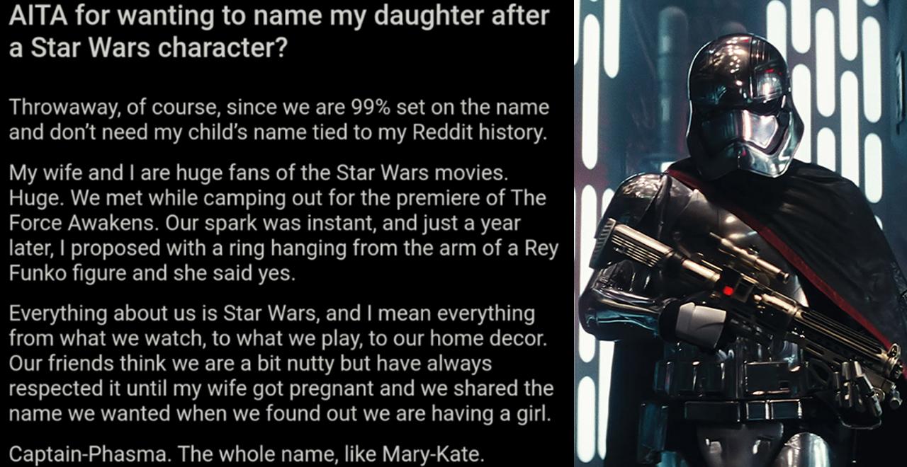 AITA Captain Phasma Dad
