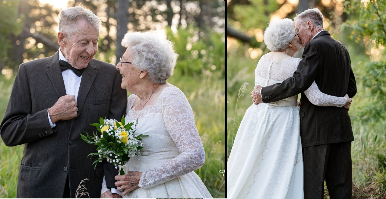 Couple Celebrates 60th Anniversary in Same Clothes They Wore at the Wedding