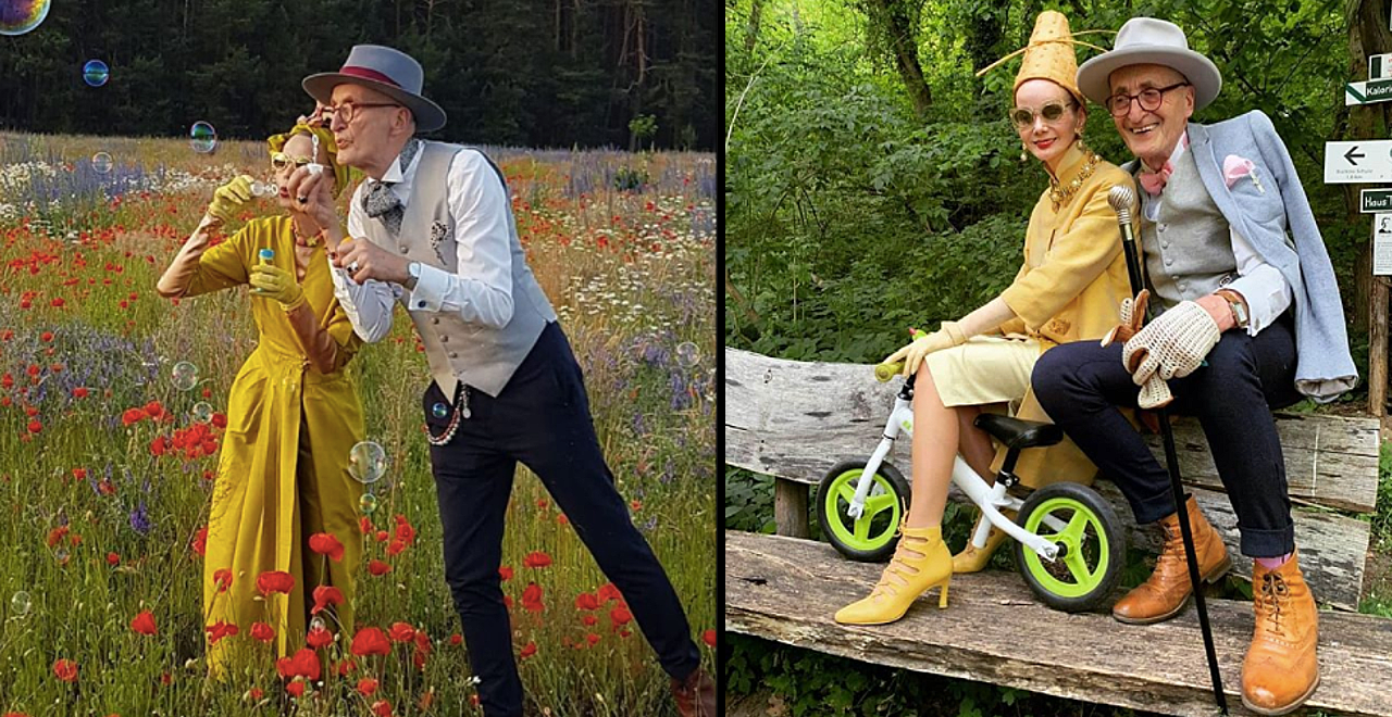 Elderly Couple are World's Fashion Icons