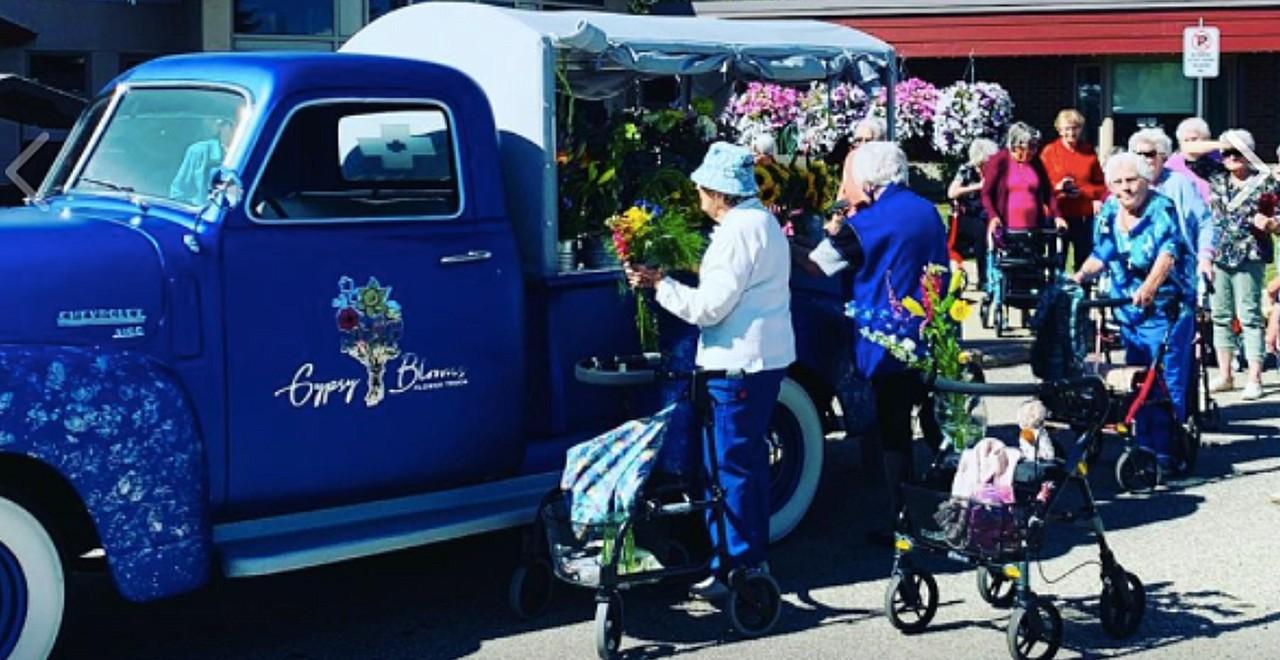 Man buys flower truck for senior citizen complex