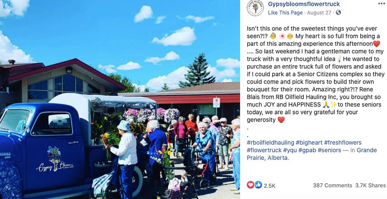 Man buys flower truck for senior citizens