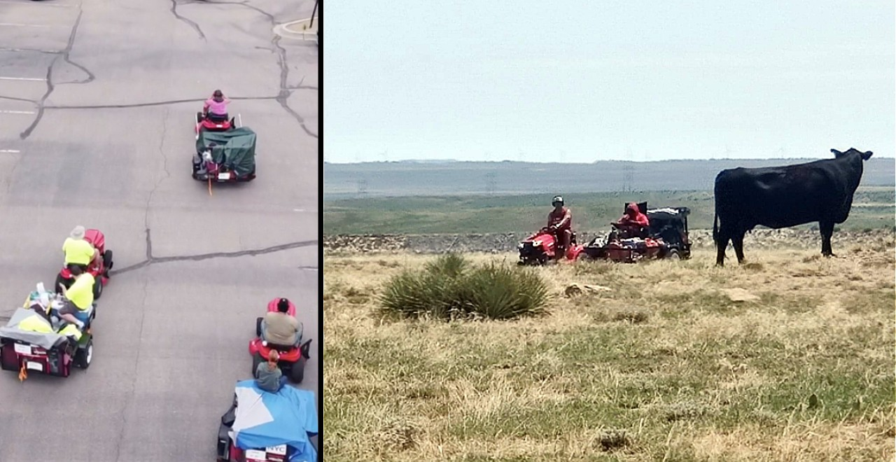 Great Grass Lawn Mower Race Across US