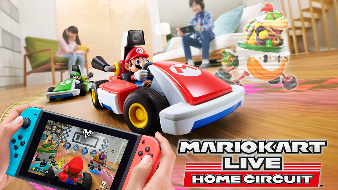 Promotional art for Mario Kart Live: Home Circuit for Nintendo Switch