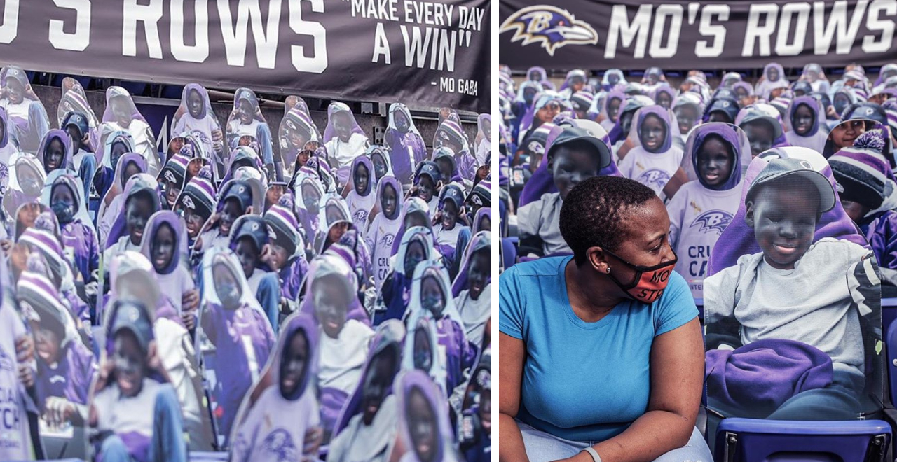 Ravens Superfan Mo Gets Cutouts