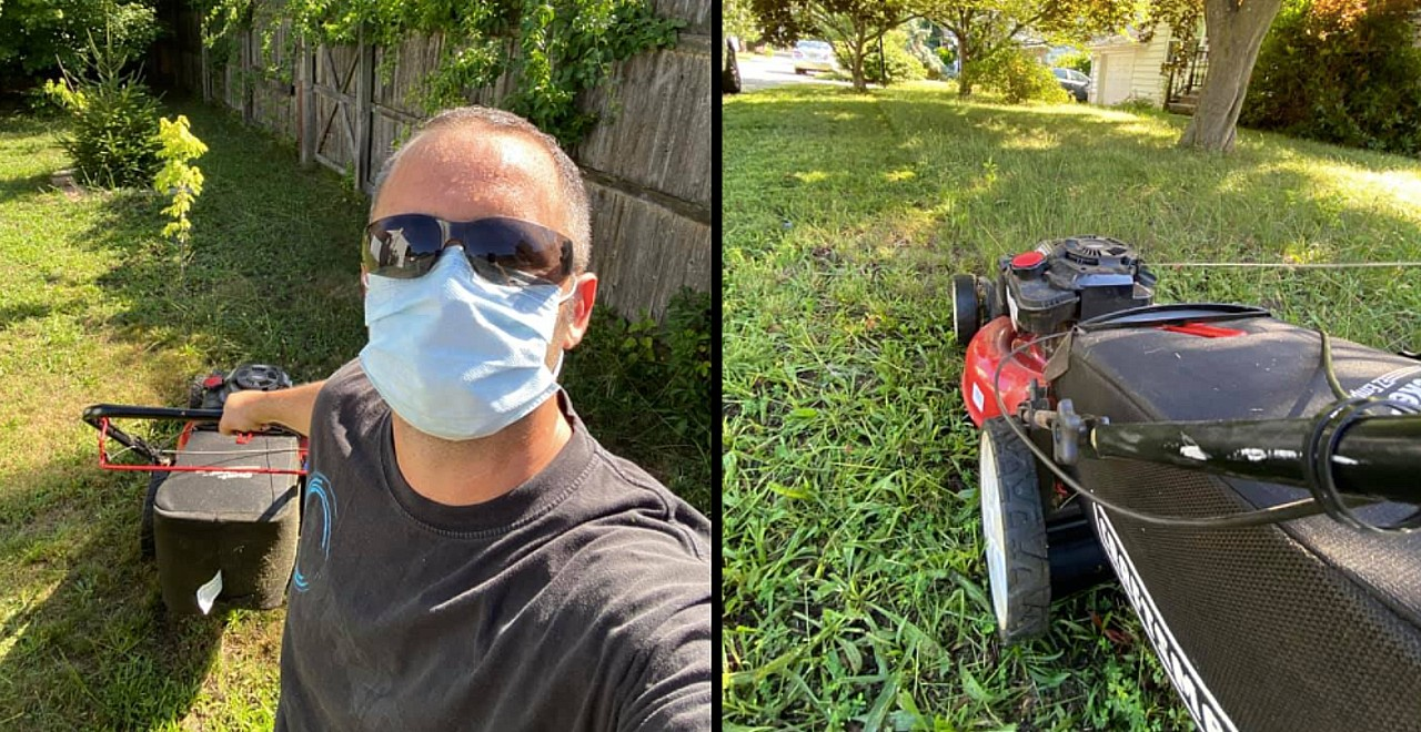Man Loses Job, Mows Lawns for Free