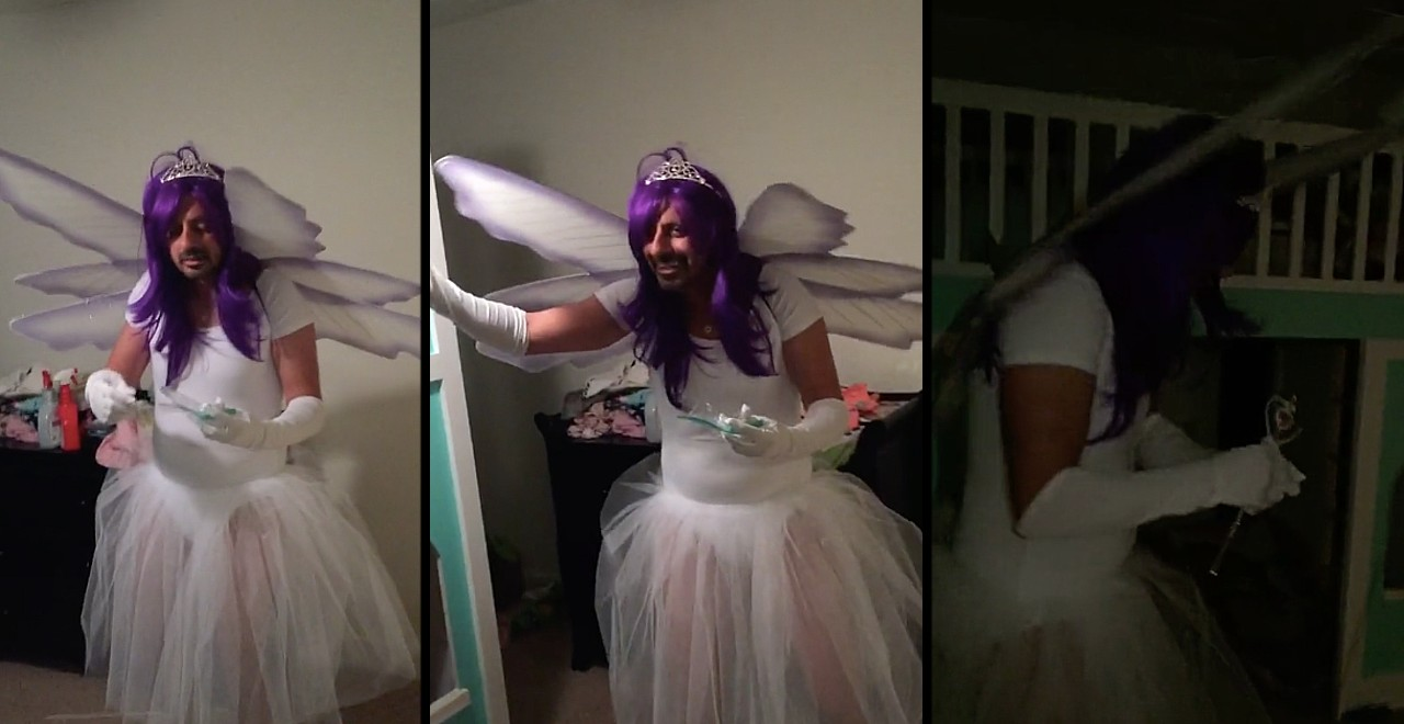 Dad Convinced to Dress Like Tooth Fairy by Wife