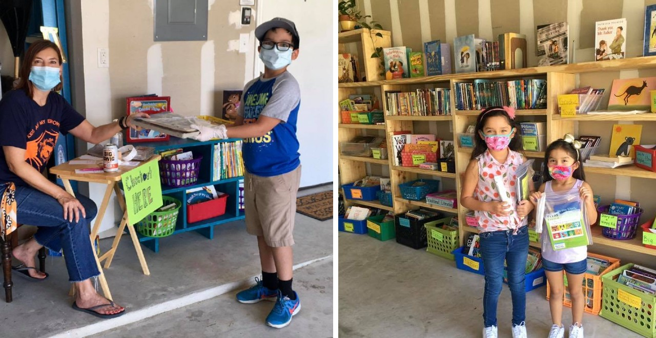 teacher creates garage library
