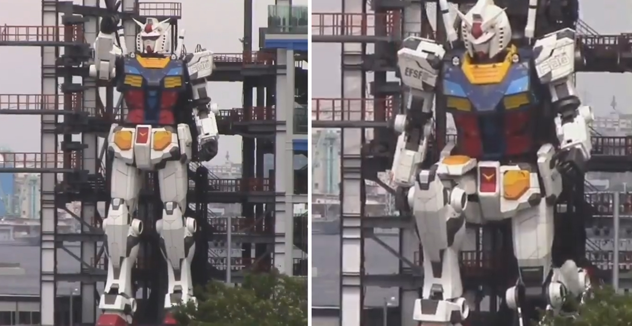 Japan's Gundam Robot is Moving