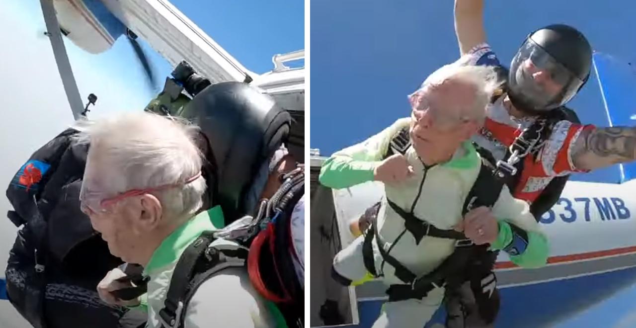 103-Yr-Old Granddad Skydives