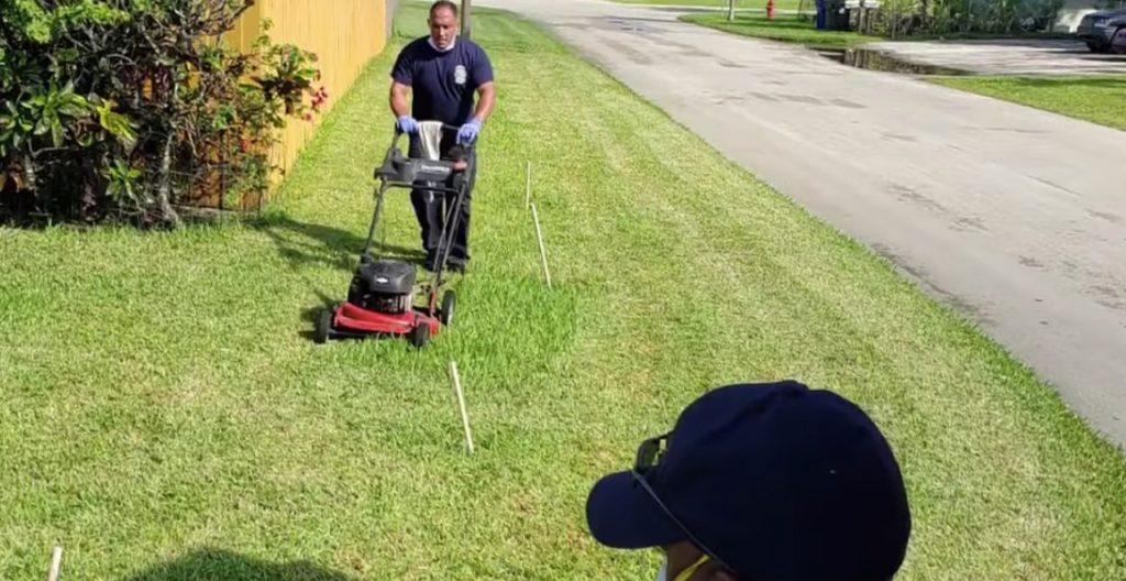 Paramedics Mow Lawn After Treating Elderly Veteran for Heat Exhaustion