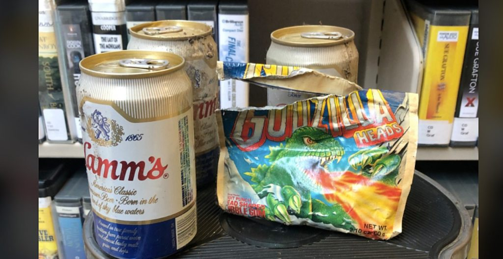 Stash of old gum and beer found at Washington library