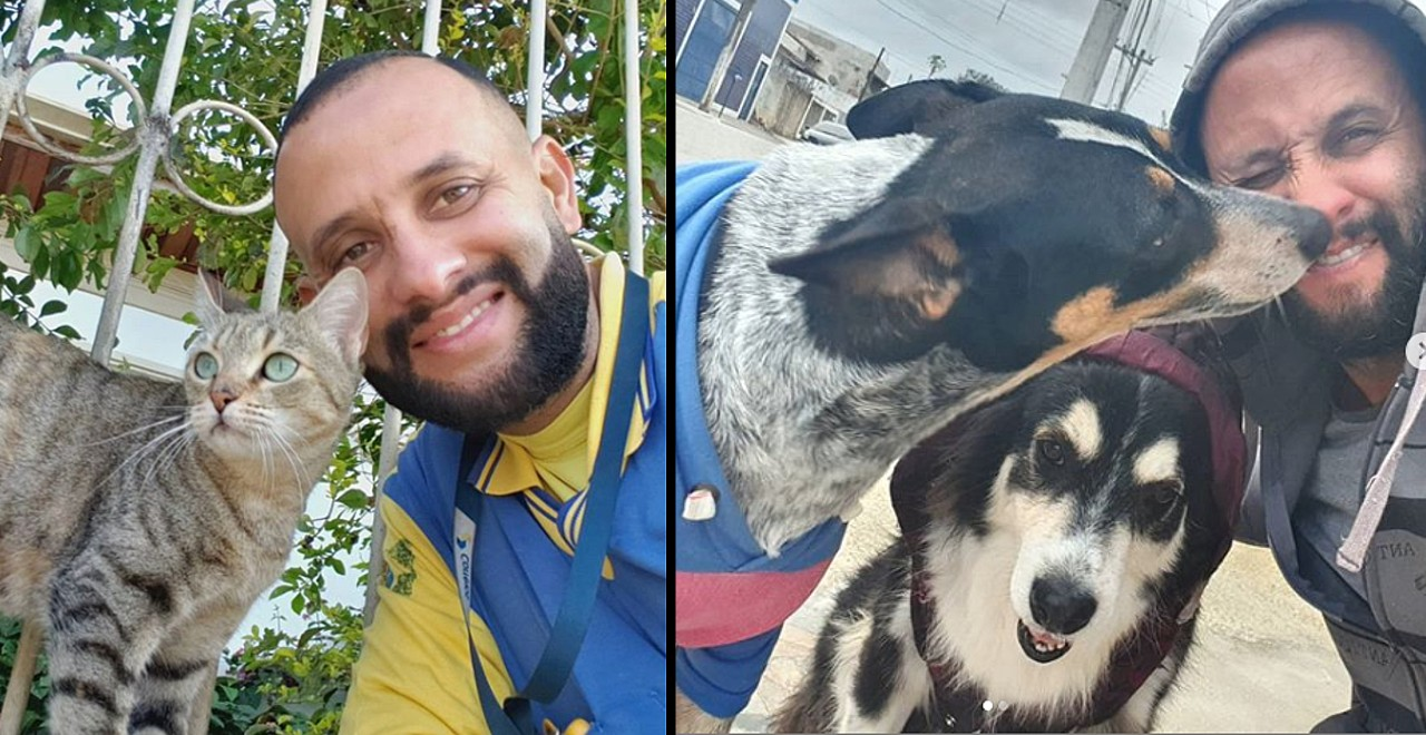 Mailman takes selfies with animals