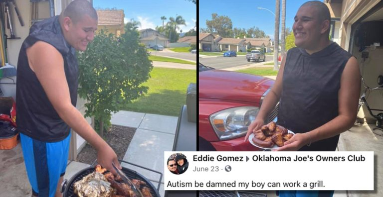 Dad's heartwarming post about son with autism grilling