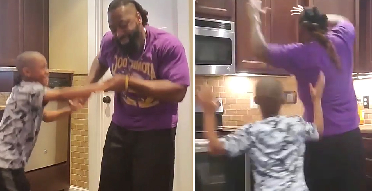 Dad and Son Breakfast Dance