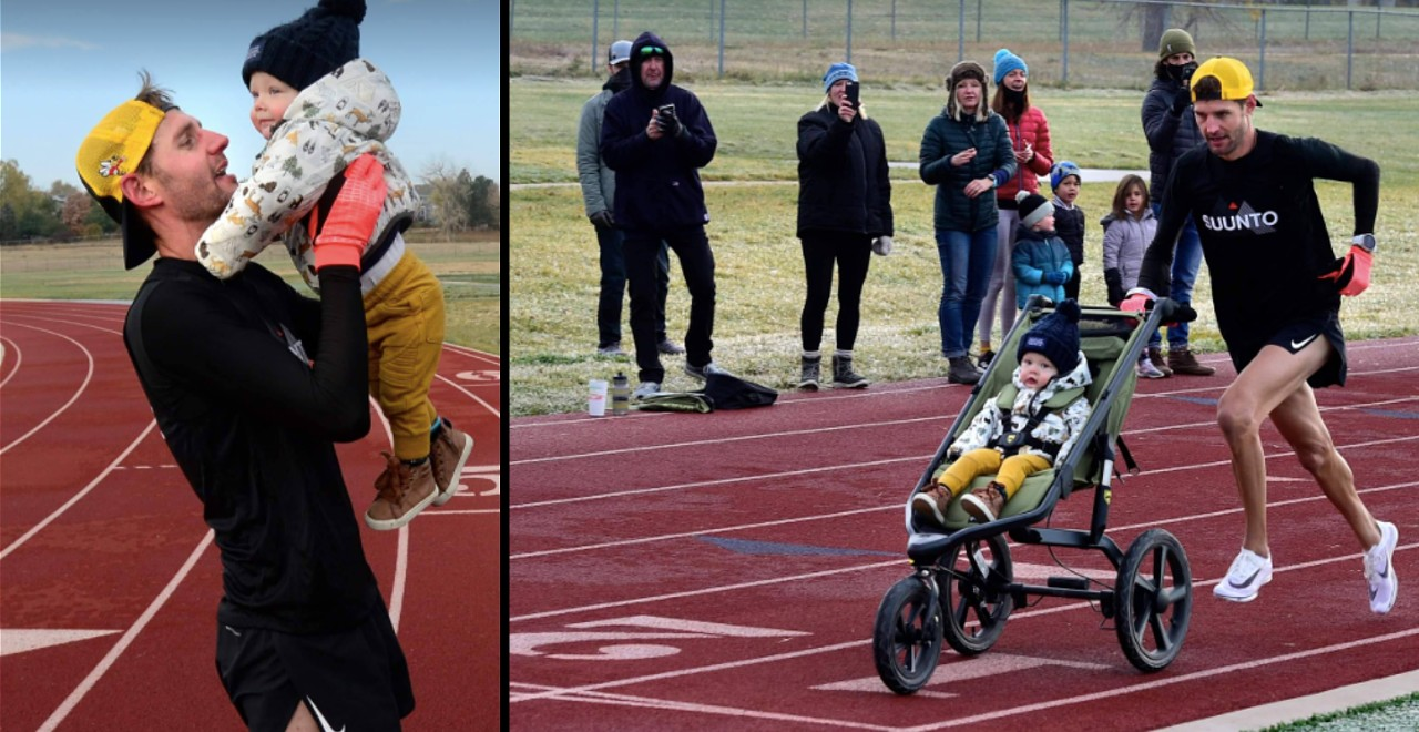 Dad breaks world record fastest mile pushing stroller