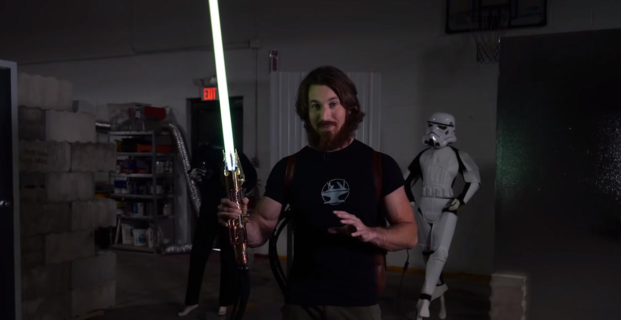 First Retractable Lightsaber