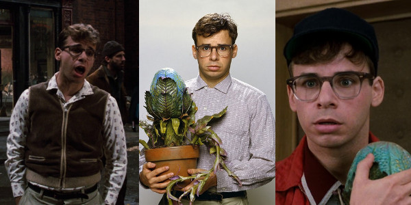 stills of Seymour (played by Rick Moranis) in Little Shop of Horrors