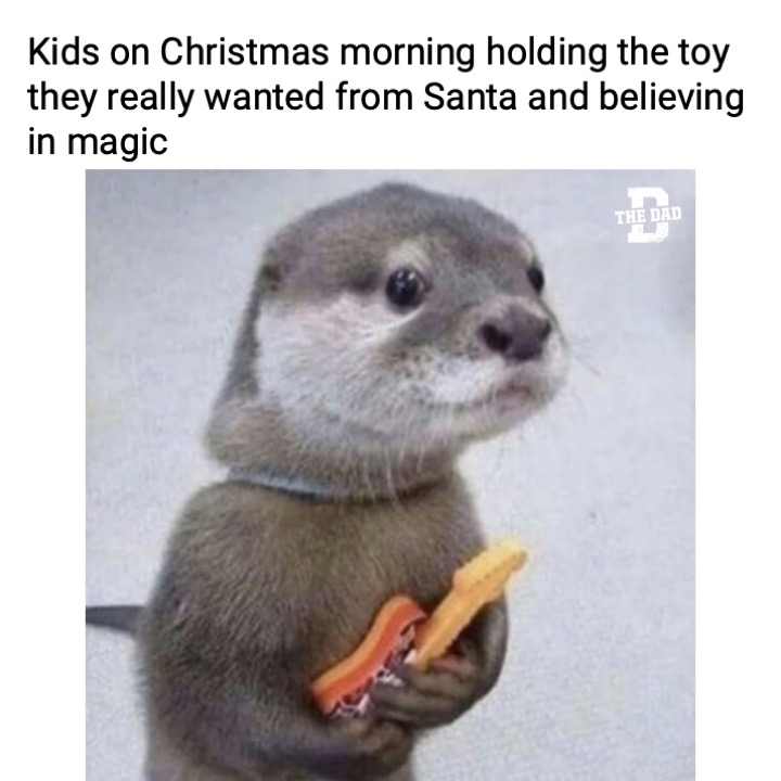 kids holding a toy on christmas they believe is magaically from santa