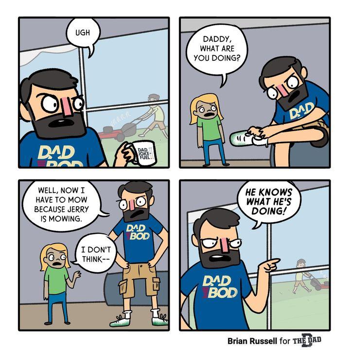dad comic strip