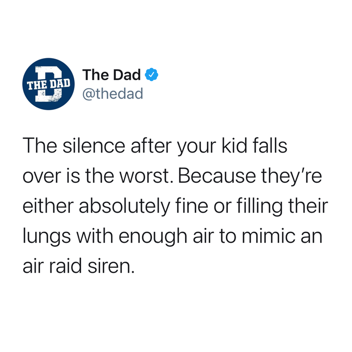 the silence after your kid falls over is the worst