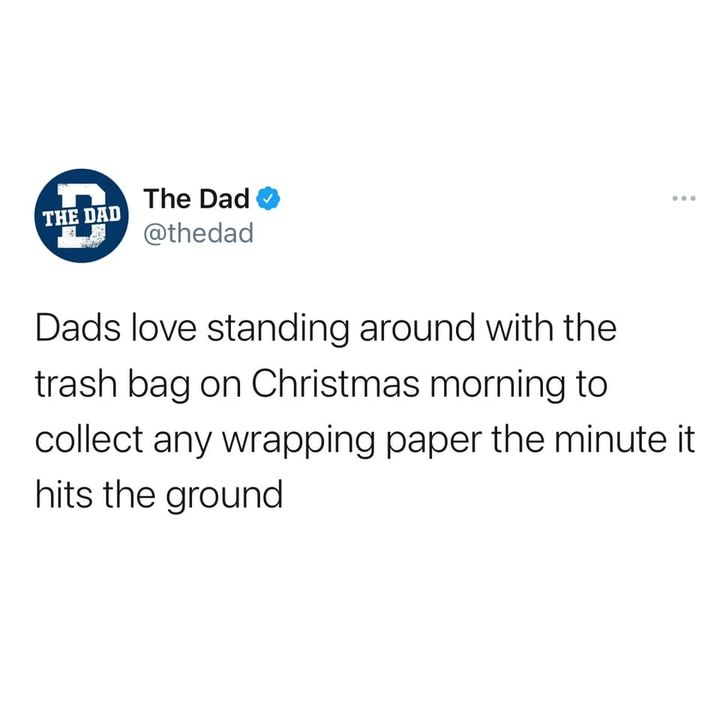 dads love collecting wrapping paper