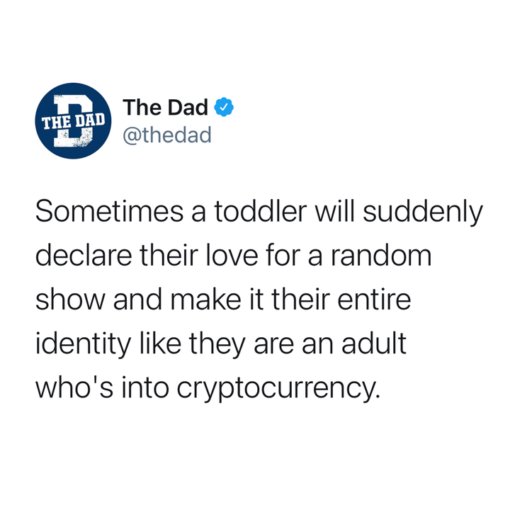 sometimes a toddler will suddenly declare their love for a random item