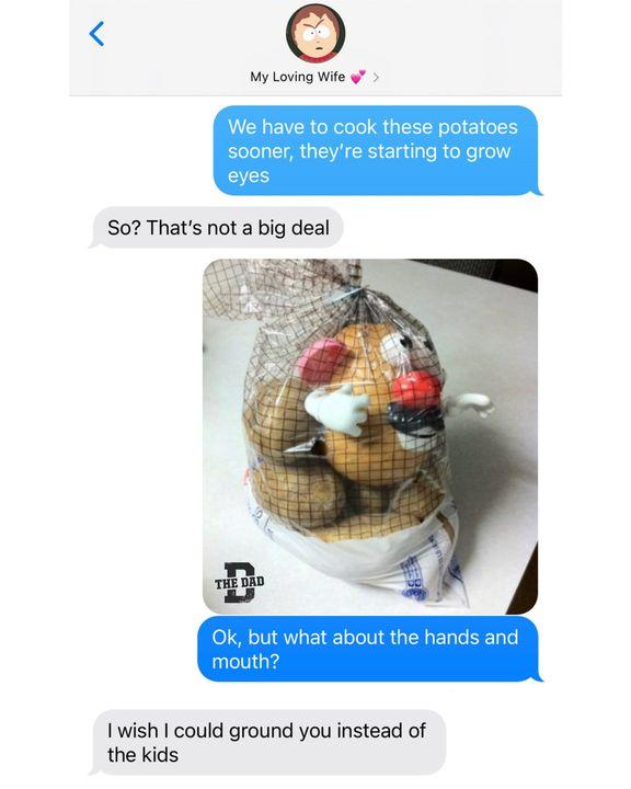 mr potato head eyes in potato bag