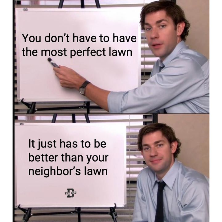 your lawn just has to be better than your neighbors