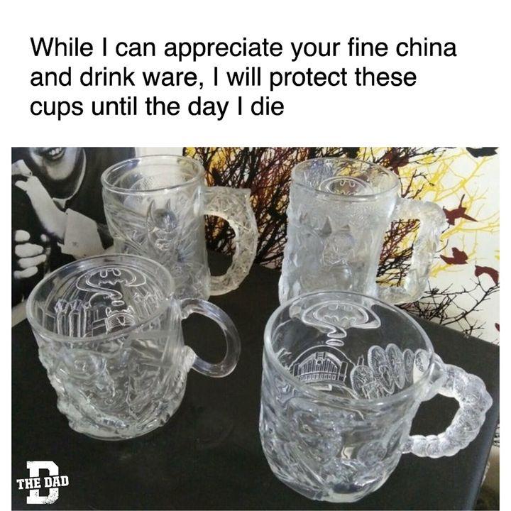 batman mugs are better than fine china