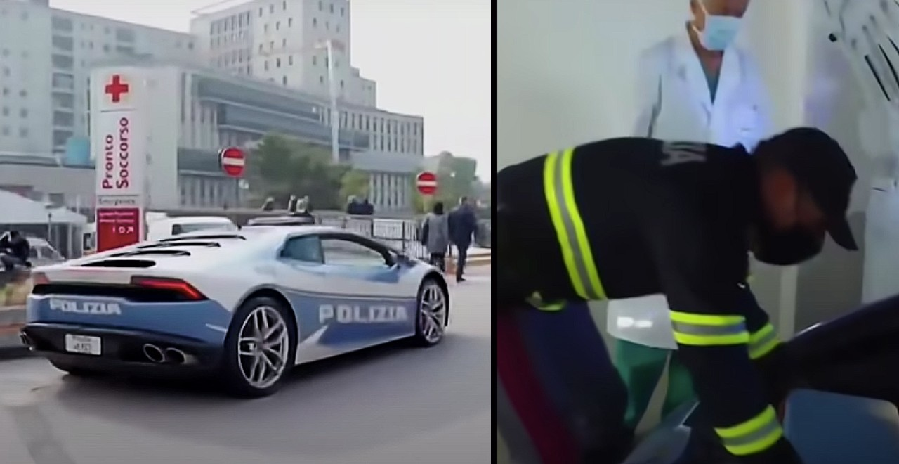 Italian police transport kidney with Lamborghini