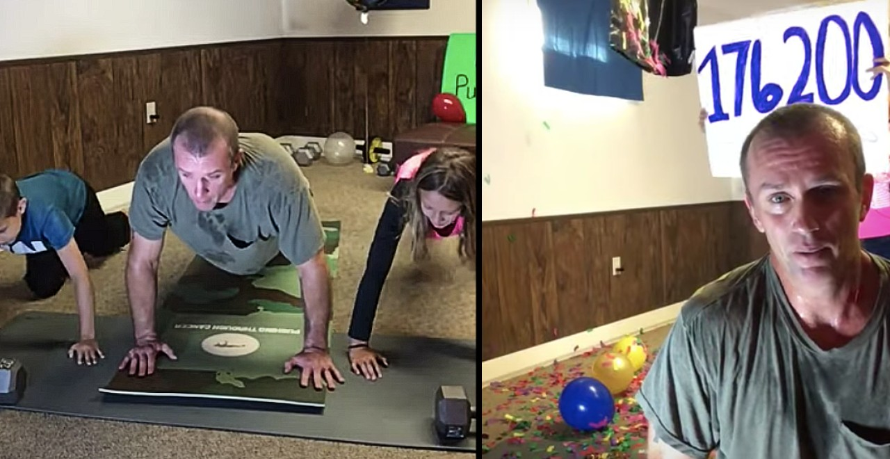 Dad with cancer does 176,200 pushups for others diagnosed with cancer